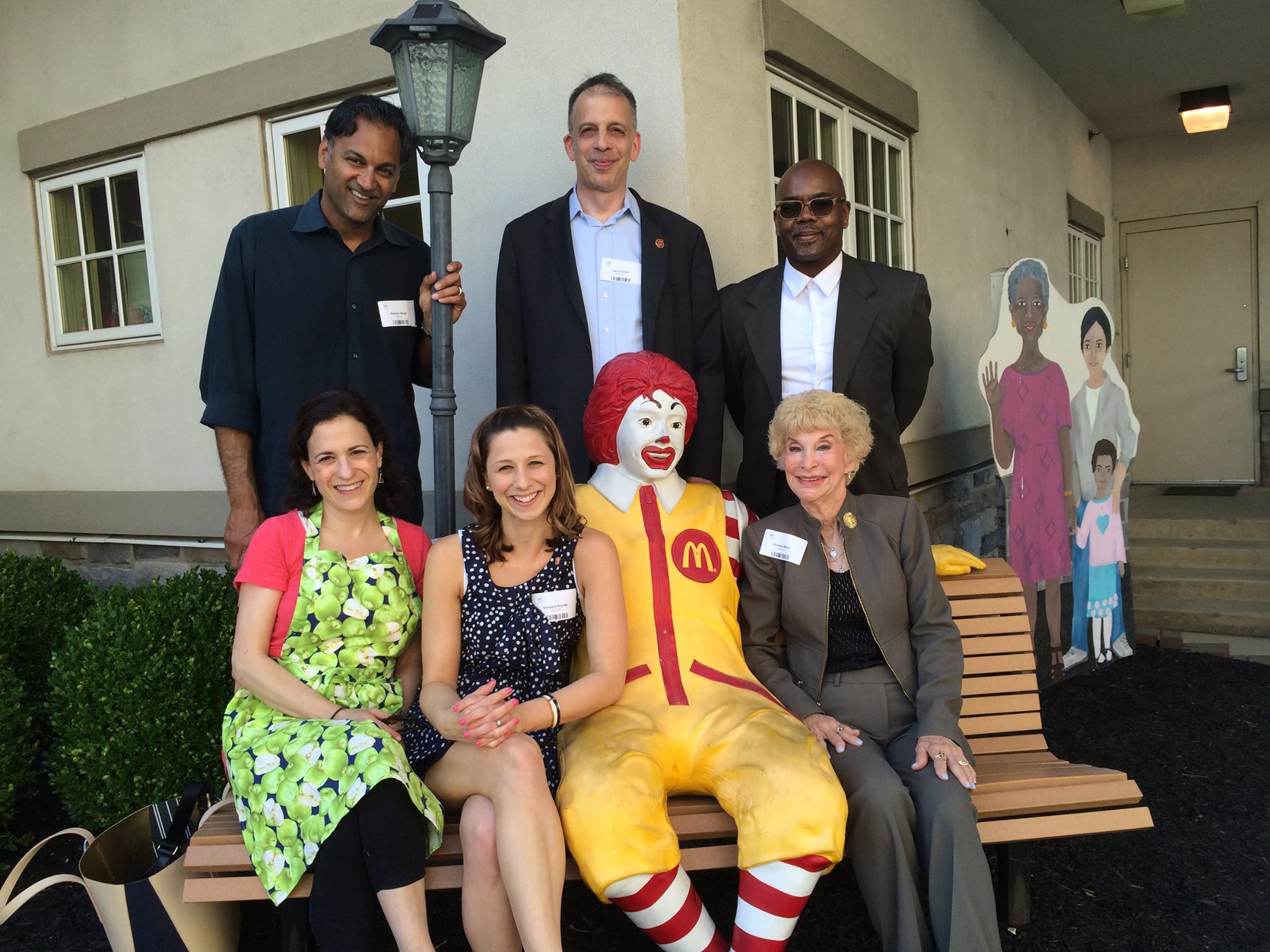 Attorney Snyder and TLAA members at the Ronald McDonald House