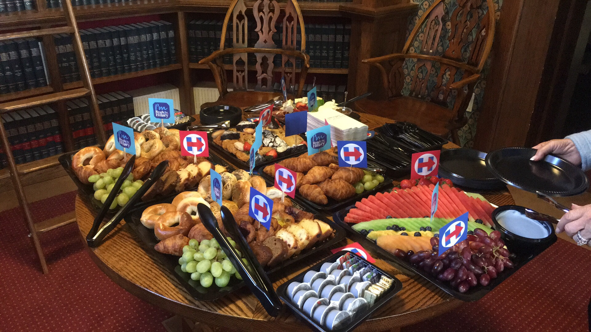 Photo of the delicious brunch enjoyed by attendees.