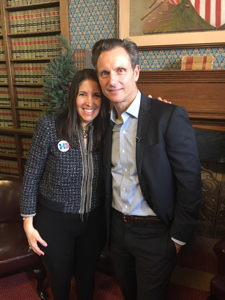 The Axelrod Firm President Sheryl Axelrod with Guest Speaker Tony Goldwyn at the Voter Protection Brunch