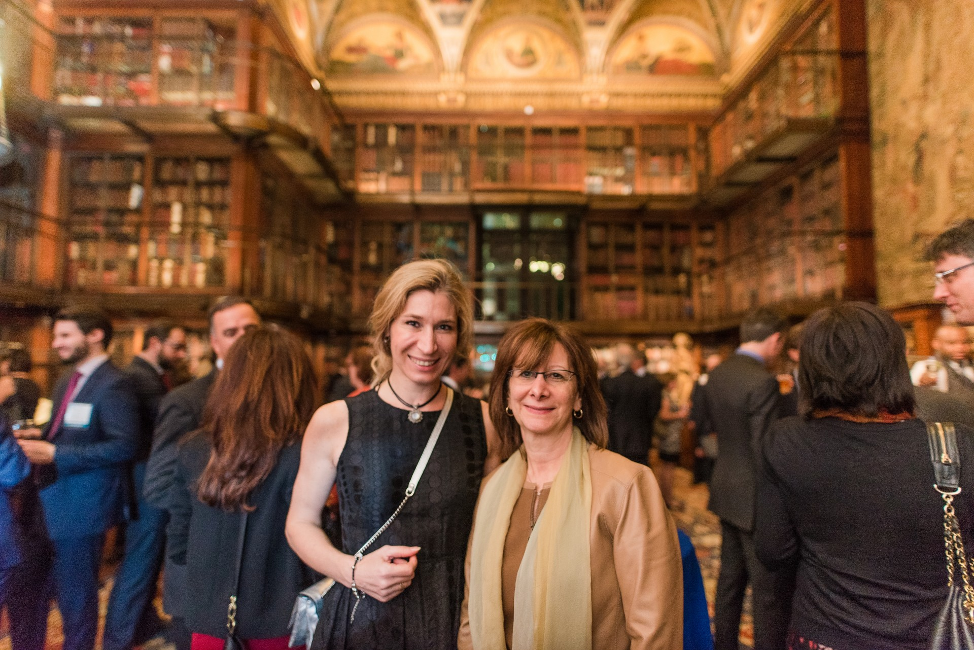 Lisa Savitt with Orsolyla Gorgenyi, President of AIJA (International Association of Young Lawyers) at the reception at The Morgan Library and Museum.