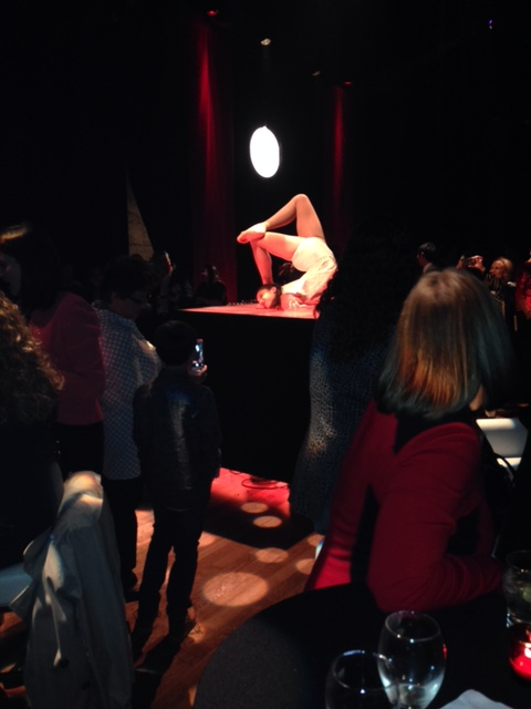 Cirque Eloize performers put on a spectacular show at their Dalhousie Station headquarters for reception guests.