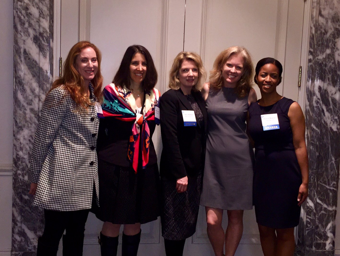 Speakers from left to right: Mary Ann Vorndran, Sheryl L. Axelrod, Mary DePaolo Haddad, Betsy Woudenberg, and Monica Monroe